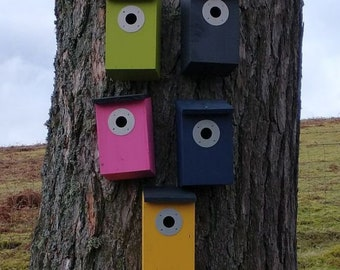 Choose Your Own Colours -  Wooden Bird House Nest Box - Two Tone