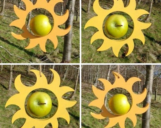 Choose Your Own Colours -  Sun Sunflower Hippy Wooden Bird Feeder - Fruit, Apple, Fat Balls, Suet