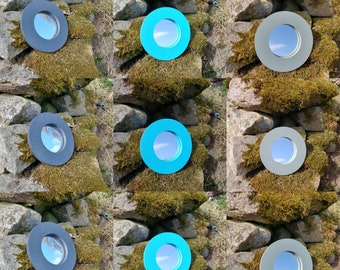Choose Your Own Colours -  Circle Round Wooden Garden Mirror