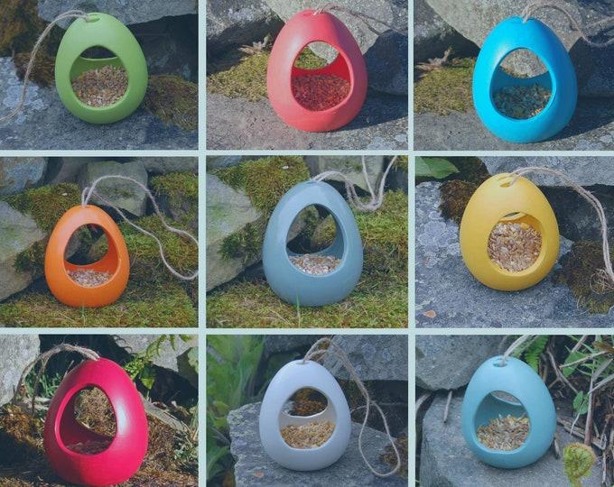 Bird Feeder Choose Your Own Colour Ceramic Bird Feeder - Gardening Gifts - Birds - Apple - Balls - Suet