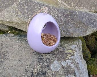 Lilac Lavender Ceramic Wild Bird Seed Feeder