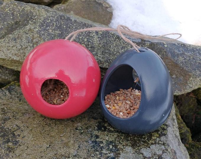 Mix and Match  Bird Feeder Gift Set  Set of 2 Ceramic Wild Bird Seed Feeders, choose your own, garden, gardening