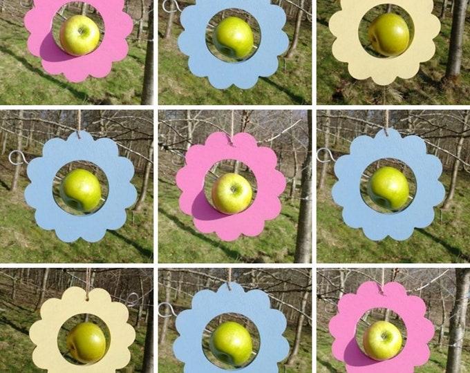 Choose Your Own Colours -  Daisy Flower Wooden Bird Feeder - Fruit, Apple, Fat Balls, Suet