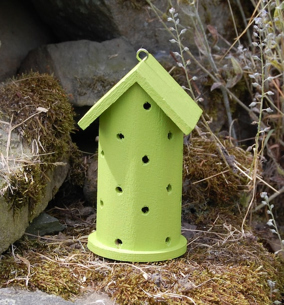 Lime Green Wooden Ladybird House Hotel - Ladybug - Insect House - Bug Hotel - Bee House - Gardening Gifts - Scottish Gifts - Scotland