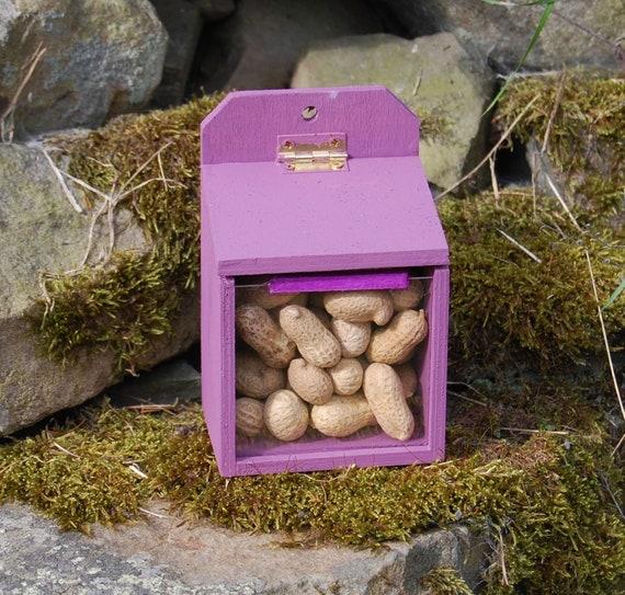 Purple Wooden Squirrel Feeder - Gardening Gifts - Scottish Gifts - Garden - Furry Friends