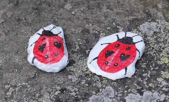Love Bug Ladybird Ladybug Plant Pot Pal Garden Art - Garden Stone - Paper Weight - Garden Decor - Decorative Sculpture
