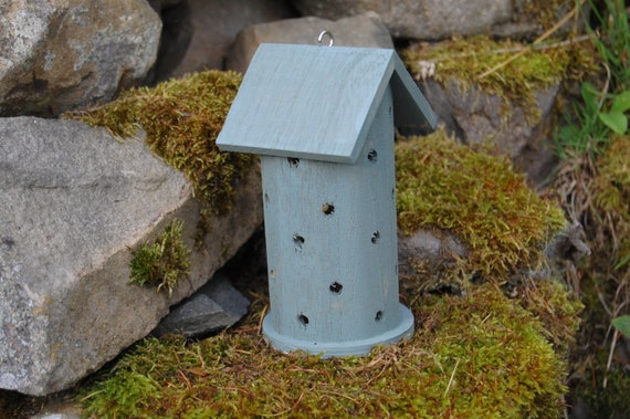Green Wooden Ladybird House Hotel - Ladybug - Insect House - Bug Hotel - Bee House - Gardening Gifts - Scottish Gifts - Scotland