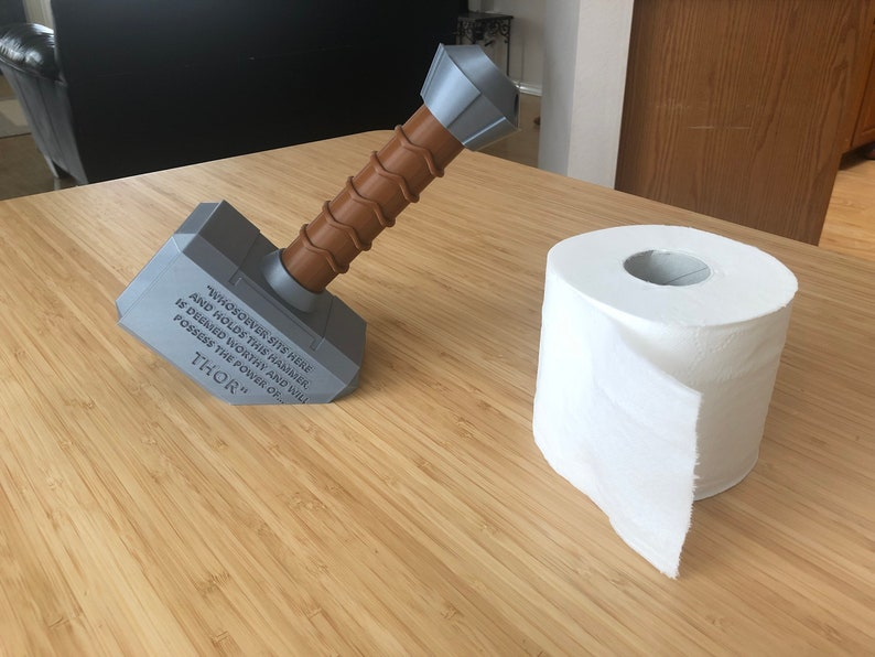 Thor Hammer Toilet Paper Holder image 0