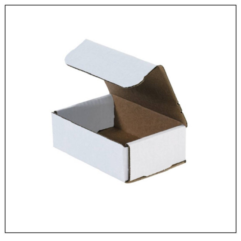 100-6 x 4 x 2 White Corrugated Shipping Mailer Packing Box Boxes