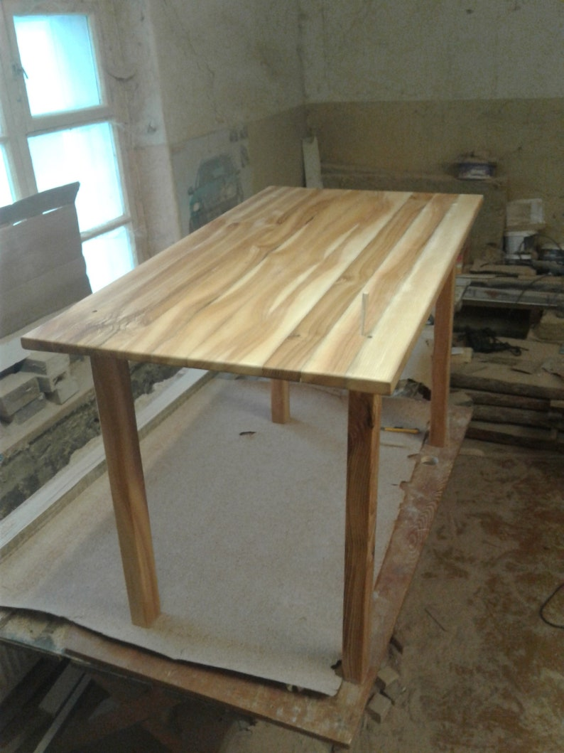 Peachy Ash Wood Kitchen Table Dining Room Table With Linseed Oil Finish Download Free Architecture Designs Rallybritishbridgeorg