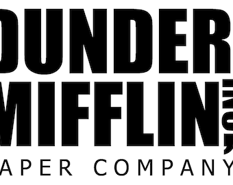 image relating to Dunder Mifflin Name Tag Printable referred to as Dunder mifflin Etsy