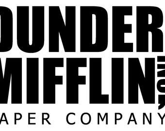 Dunder mifflin logo | Etsy