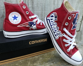 Custom made football fan converse shoes sports team favorite unique sneakers football fanatic gift