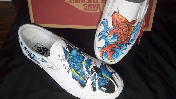 Vans koi fish print shoes (With images