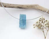 Intense blue aquamarine pendant