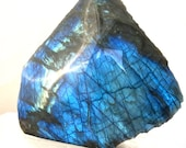 Large blue Labradorite polished and raw