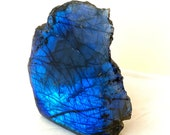 Blue Labradorite Raw Freeform at the back