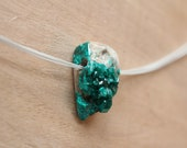 pendant with Dioptase crystals