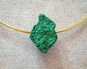 Fine crystals of green ga...