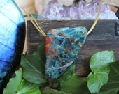 Blue apatite from Brazil as a pendant
