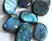 Extra blue Labradorite, lot of 2 large pebbles