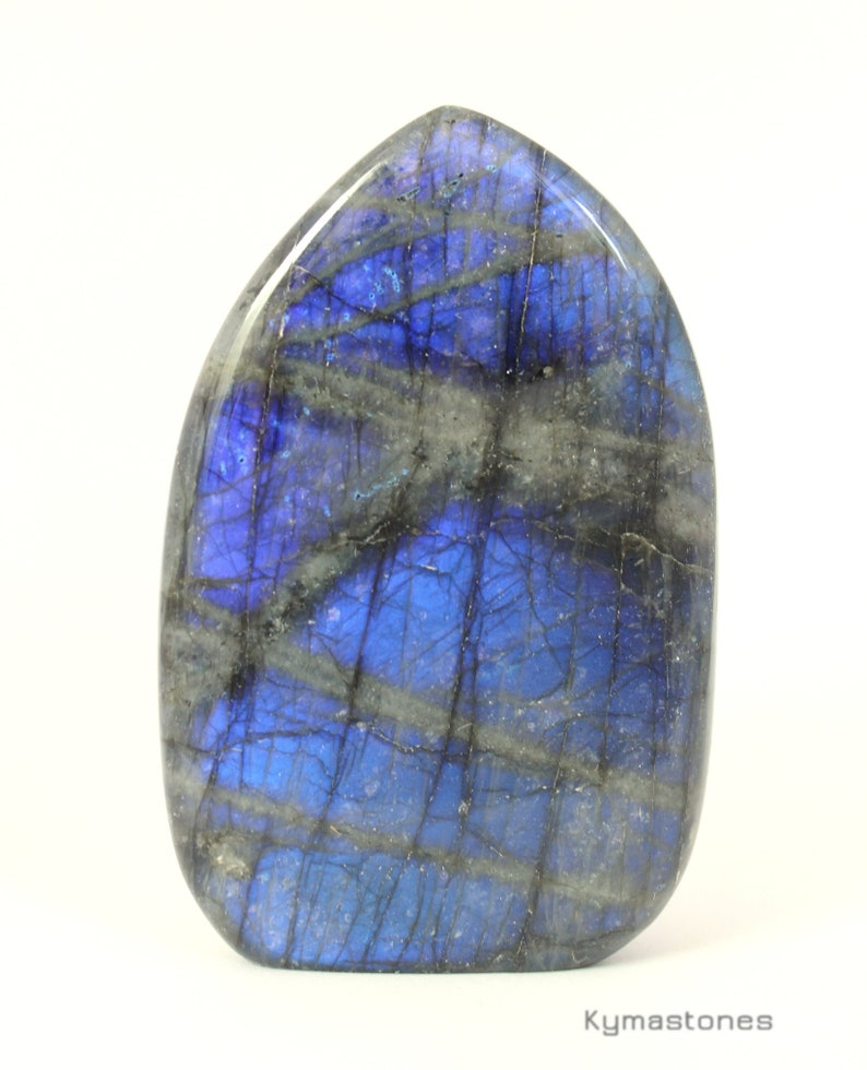 Labradorite beautiful blue reflections free form image 0