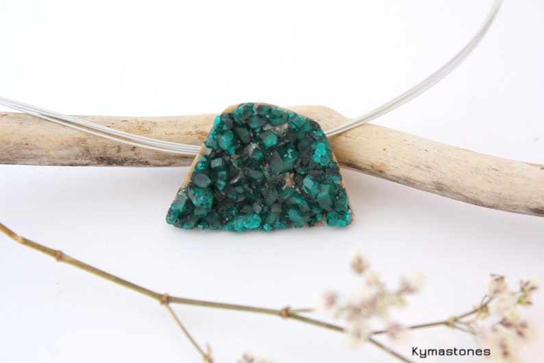 Dioptase crystals in pendant image 0