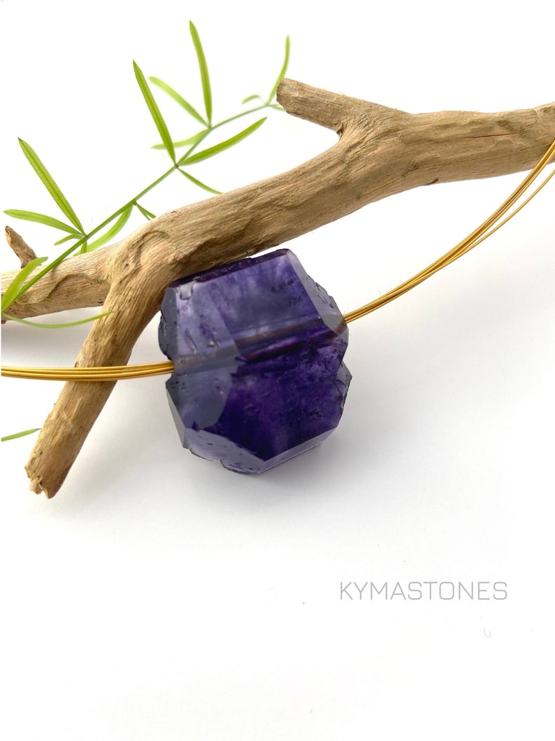Fluorite Violet Crystal in pendant image 0