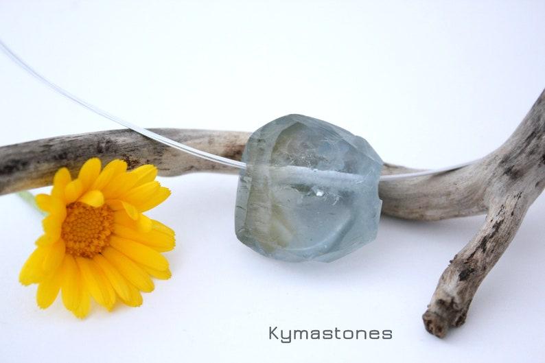 Celestite crystal in pendant silver