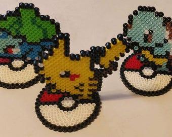 First Generation Starter Pokemon Perler Beads (Custom Options Available)