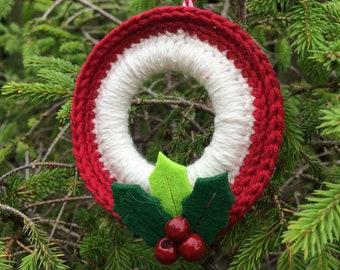 Crochet wreath ornament: Crochet Pattern only