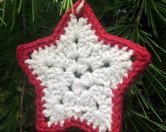 Crochet star ornament: Crochet Pattern only