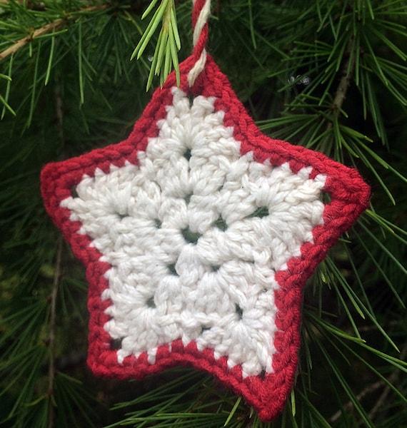 Crochet star ornament: Crochet Pattern only | Etsy