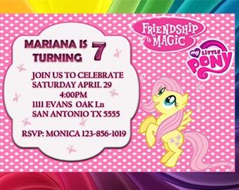 Fluttershy  party Invitation, my little pony