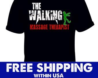 f9e80685 Massage Therapist Walking Distressed Costume, Halloween scary tshirt, Zombie  Clothing Massaging, trick gift treat, funny vintage Pumpkin