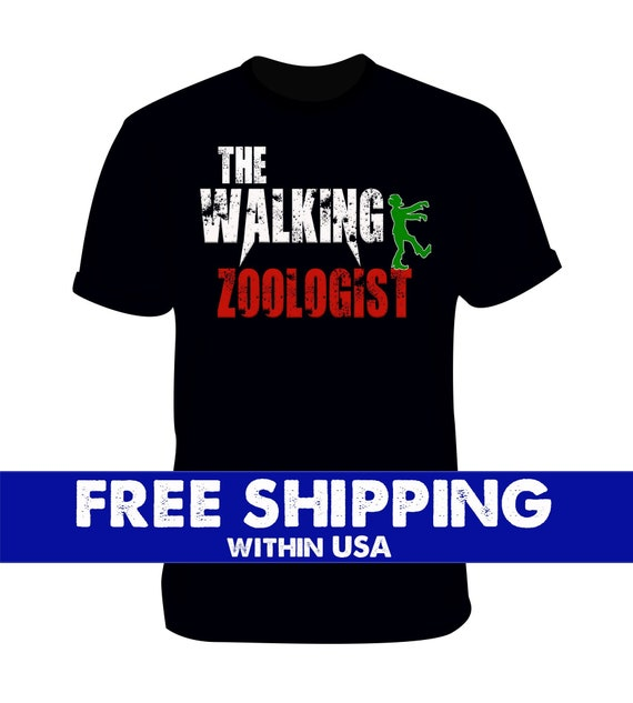 Zoologist Animals Zoo Walking Distressed, Halloween scary tshirt, Zombie Clothing Ghost, valentines day, christmas clearance sale,
