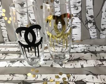 Chanel flute glasses