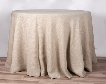 Linen Tablecloth Round   Etsy