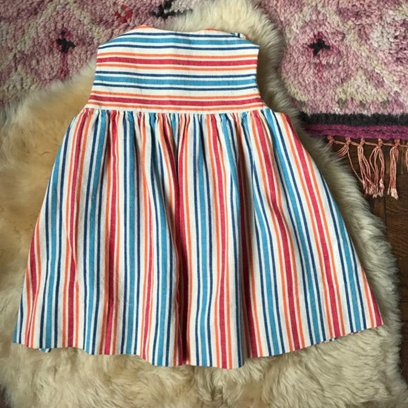 Vintage Striped Empire Waist Dress