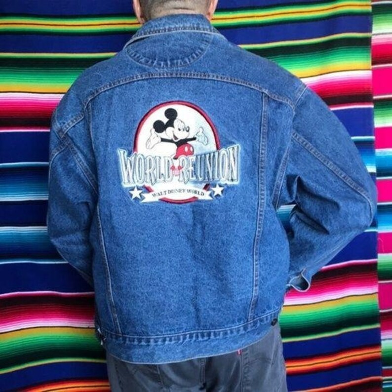 Disney World Reunion Mickey Mouse Embroidered Jean