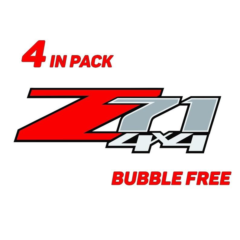 EZ CUT PRO 2X Z71 4x4 F Chevy 07-13 Decal Sticker Parts for Silverado GMC Sierra Truck