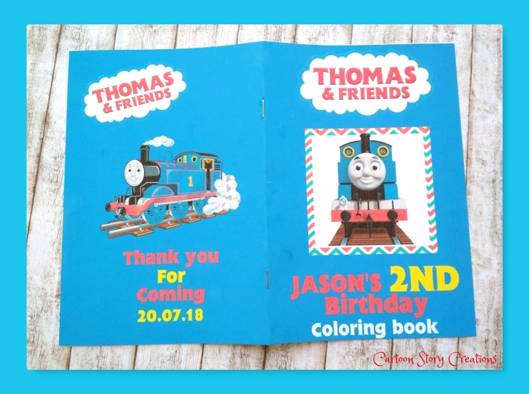 Thomas The Train Colouring Book Thomas The Train Party Gavors Train Colouring Book Thomas Colouring Pages Train Birthday Party Personalized