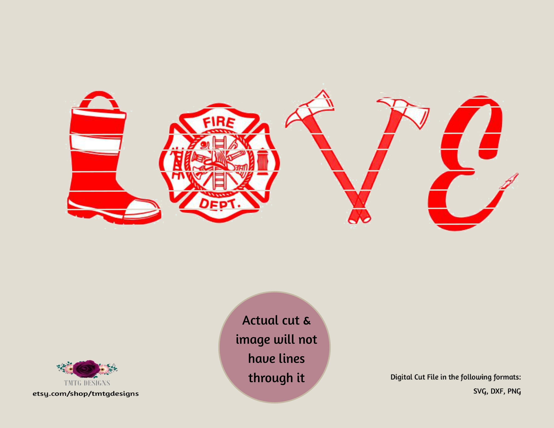 Download Firefighter svg Firefighter Love svg love svg svg DFX | Etsy
