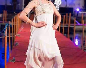 Handmade bridal dress, Alternative bridal dress, assymetric bridal dress,bohemian bridal dress