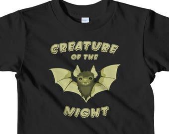 Creature of the Night T-Shirt || Goth Kids Clothes || Punk Kids || Kids Bat Shirt || Alternative Kids || Horror Kids || Toddler Shirt