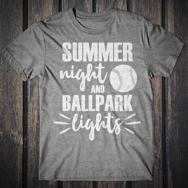 31a026e1caf0 Summer nights and ballpark lights svg Summer svg Baseball