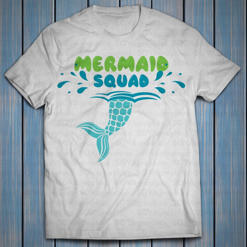 06c337f2b9da Mermaid squad svg Mermaid svg dxf Summer svg Mermaid Tail | Etsy