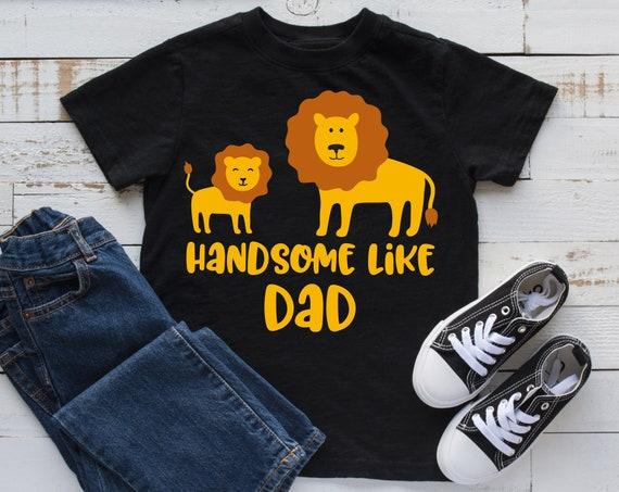 Handsome Like Dad Svg Lion Svg Fathers Day Svg Lion Dad Etsy
