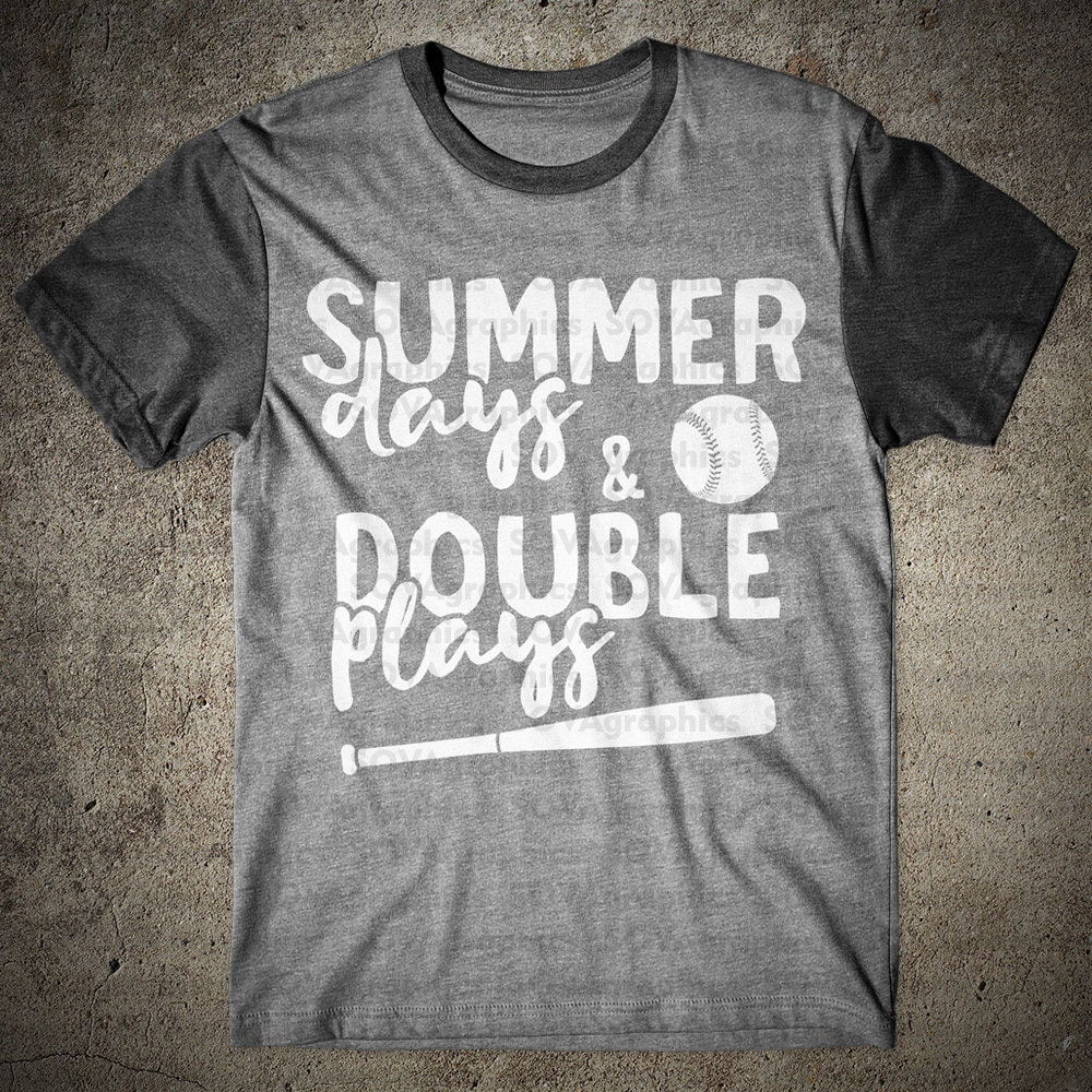 b03211280d87 Summer Days and Double Plays Baseball svg dxf eps Sport