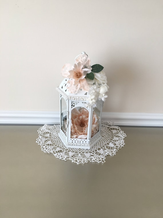 Lanterns Wedding Lantern Wedding Decorations Shabby Chic Lanterns Shower Decor Home Decor Decorated Lanterns Centerpiece Table Decor